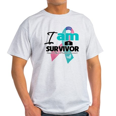 Thyroid Cancer Survivor Light T-Shirt
