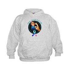We Can Do It Thyroid Cancer Hoodie