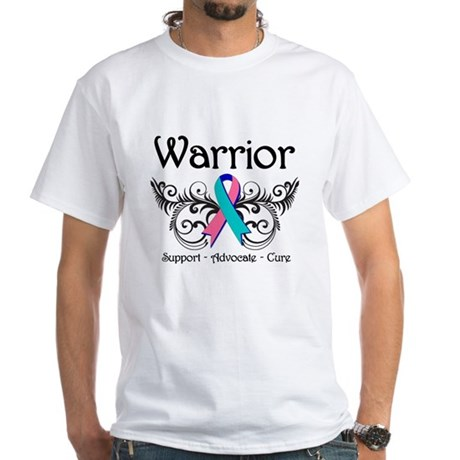 Thyroid Cancer Warrior White T-Shirt