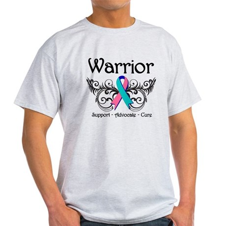 Thyroid Cancer Warrior Light T-Shirt