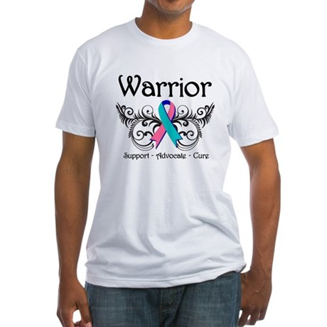 Thyroid Cancer Warrior Fitted T-Shirt