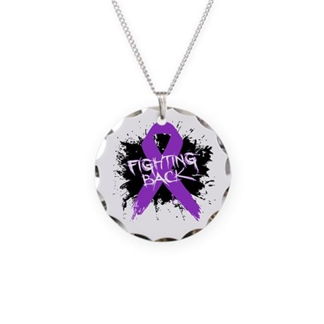 Fighting Back Alzheimers Necklace Circle Charm