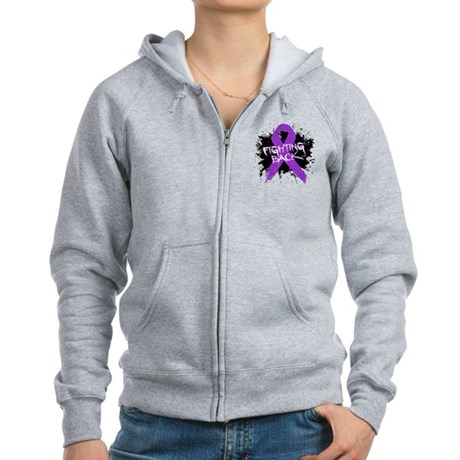 Fighting Back Alzheimers Women's Zip Hoodie