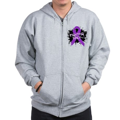 Fighting Back Alzheimers Zip Hoodie