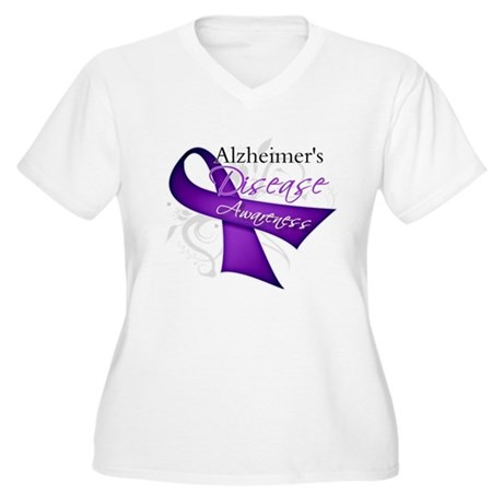 Alzheimer's Disease Women's Plus Size V-Neck T-Shi