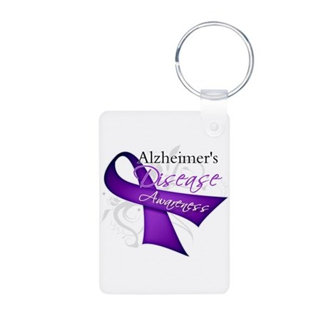 Alzheimer's Disease Aluminum Photo Keychain