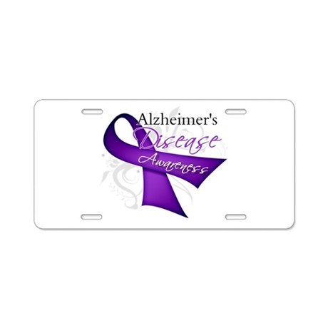 Alzheimer's Disease Aluminum License Plate