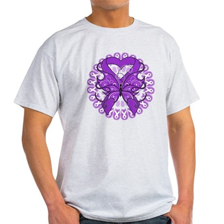 Butterfly Alzheimers Disease Light T-Shirt