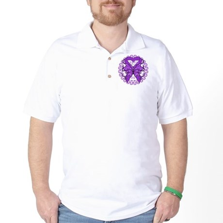 Butterfly Alzheimers Disease Golf Shirt