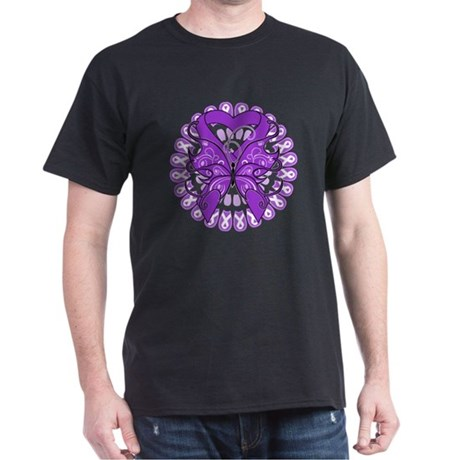 Butterfly Alzheimers Disease Dark T-Shirt
