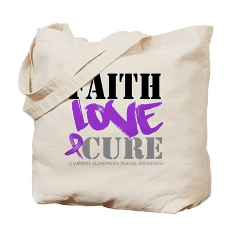 Faith Love Cure Alzheimers Tote Bag