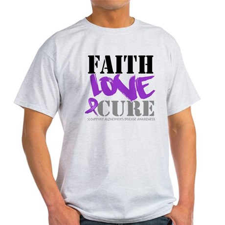 Faith Love Cure Alzheimers Light T-Shirt