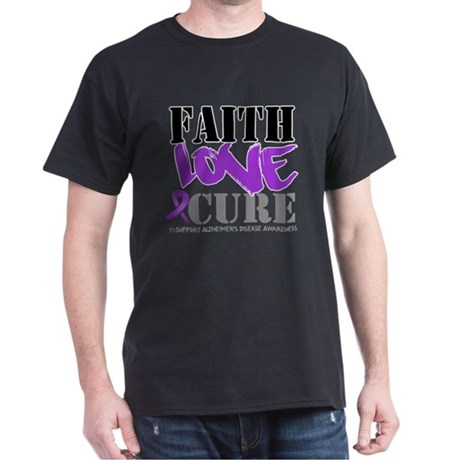 Faith Love Cure Alzheimers Dark T-Shirt