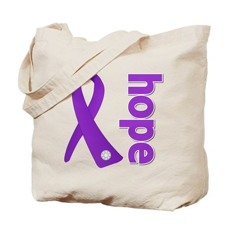 Hope Ribbon Alzheimers Tote Bag