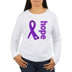 Hope Ribbon Alzheimers Women's Long Sleeve T-Shirt