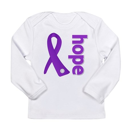 Hope Ribbon Alzheimers Long Sleeve Infant T-Shirt