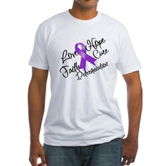 Hope Cure Alzheimers Fitted T-Shirt