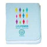Girl Power! Color Light baby blanket