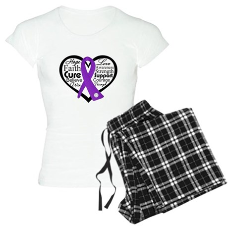 Hope Heart Alzheimers Women's Light Pajamas