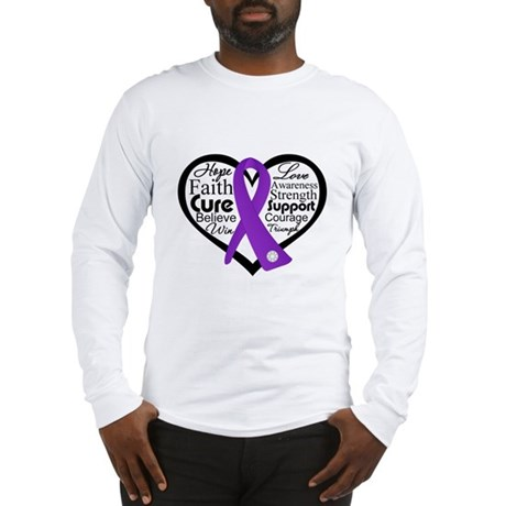Hope Heart Alzheimers Long Sleeve T-Shirt