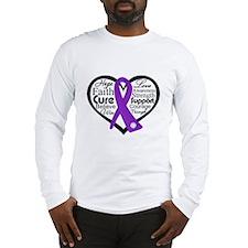 Hope Heart Alzheimers Long Sleeve T-Shirt