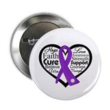 "Hope Heart Alzheimers 2.25"" Button (100 pack)"