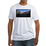 Beauty of Climbing Fitted T-Shirt
