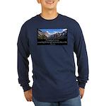 Beauty of Climbing Long Sleeve Dark T-Shirt