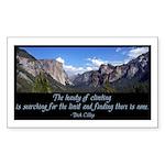 Beauty of Climbing Sticker (Rectangle)