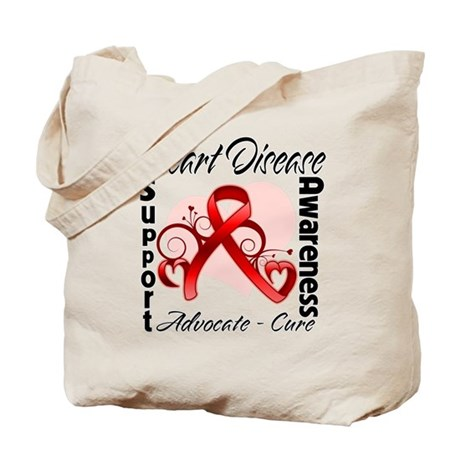 Heart Disease Awareness Tote Bag