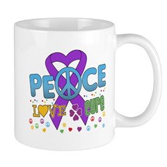 Epilepsy Peace Love Cure Mug