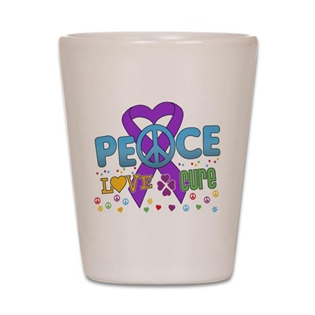 Epilepsy Peace Love Cure Shot Glass