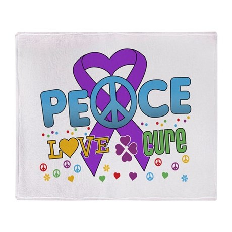 Epilepsy Peace Love Cure Throw Blanket