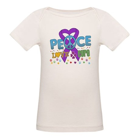 Epilepsy Peace Love Cure Organic Baby T-Shirt