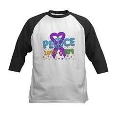 Epilepsy Peace Love Cure Kids Baseball Jersey