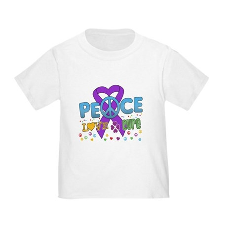 Epilepsy Peace Love Cure Toddler T-Shirt