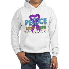Epilepsy Peace Love Cure Hooded Sweatshirt