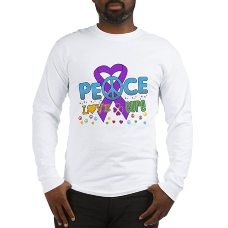 Epilepsy Peace Love Cure Long Sleeve T-Shirt