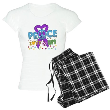 Epilepsy Peace Love Cure Women's Light Pajamas