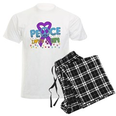 Epilepsy Peace Love Cure Men's Light Pajamas