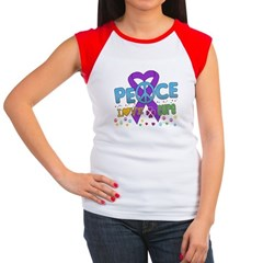 Epilepsy Peace Love Cure Women's Cap Sleeve T-Shir
