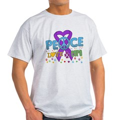 Epilepsy Peace Love Cure Light T-Shirt