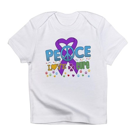 Epilepsy Peace Love Cure Infant T-Shirt