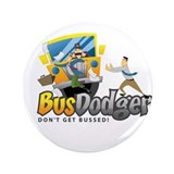 Cute Under the bus 3.5&quot; Button