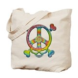 Tie-Dye Peace Pirate Tote Bag