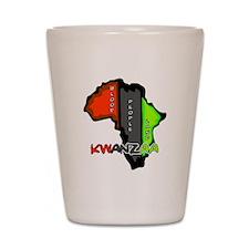 Kwanzaa Africa Shot Glass
