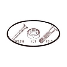 Screw. Nut. Bolt. with Words Patches