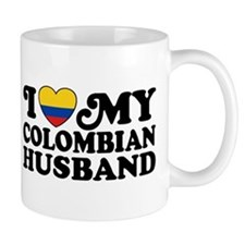 I Love My Colombian Husband Mug