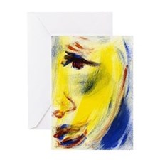 Abstract Face Painting Greeting Card