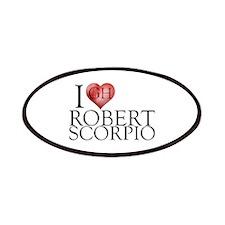 I Heart Robert Scorpio Patches